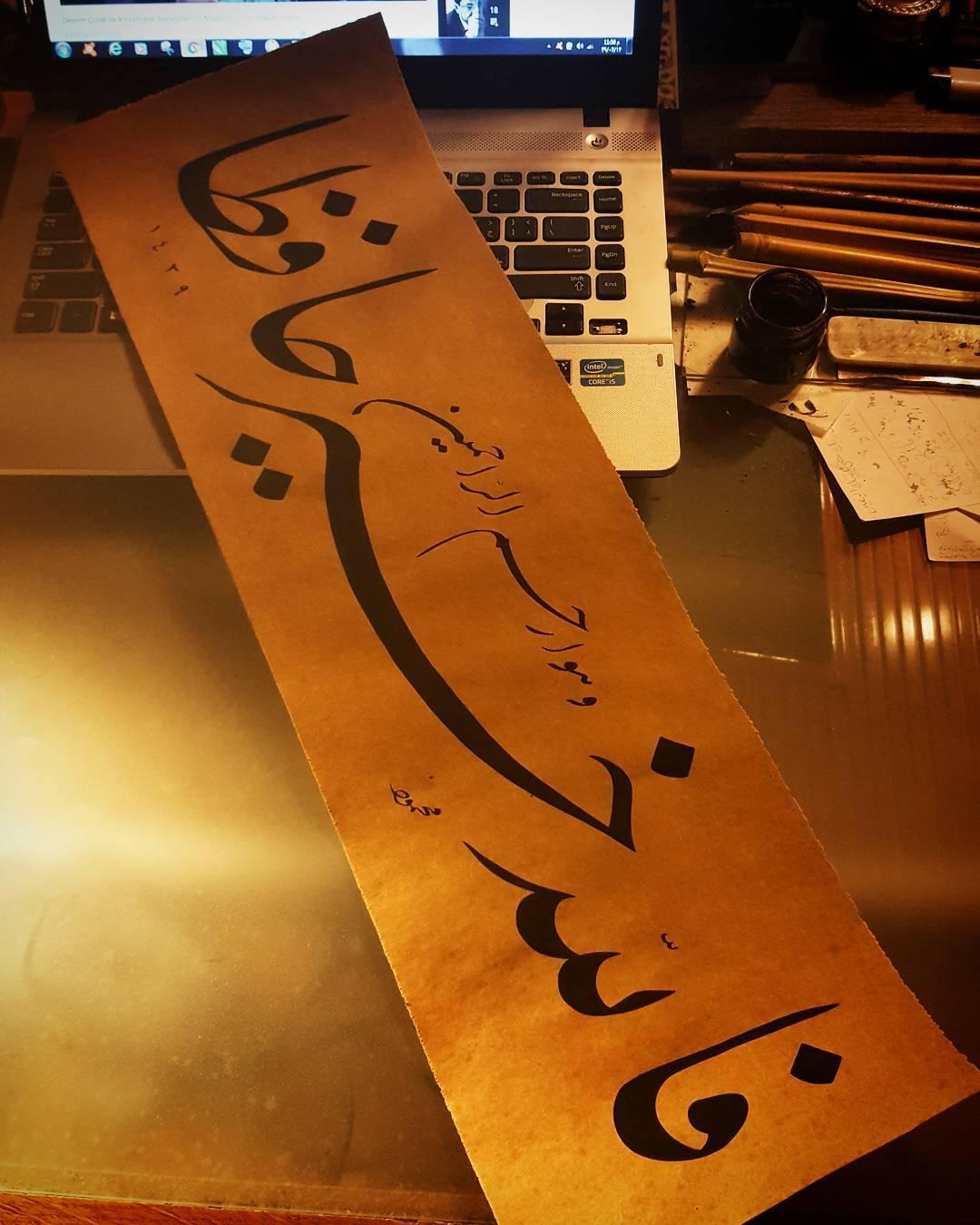 Donwload Photo Allah en iyi koruyandır, O merhametlilerin merhametlisidir. Yusuf Suresi 64. Aye...- Hattat Mahmud 1