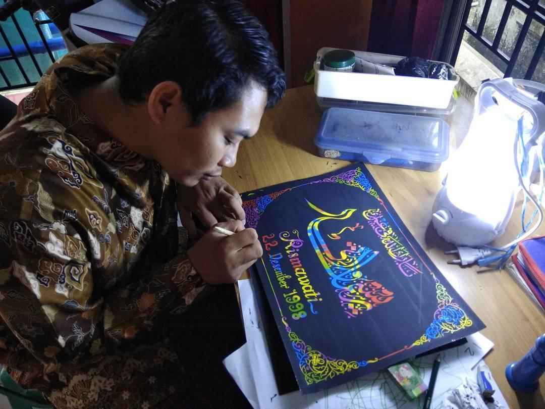 Donwload Photo Kaligrafi Kaligrafi nama  Jasa Pembuatan Kado / Pajangan Kaligrafi Nama & Ucapan Selamat O…- Syamsul PKA Lemka