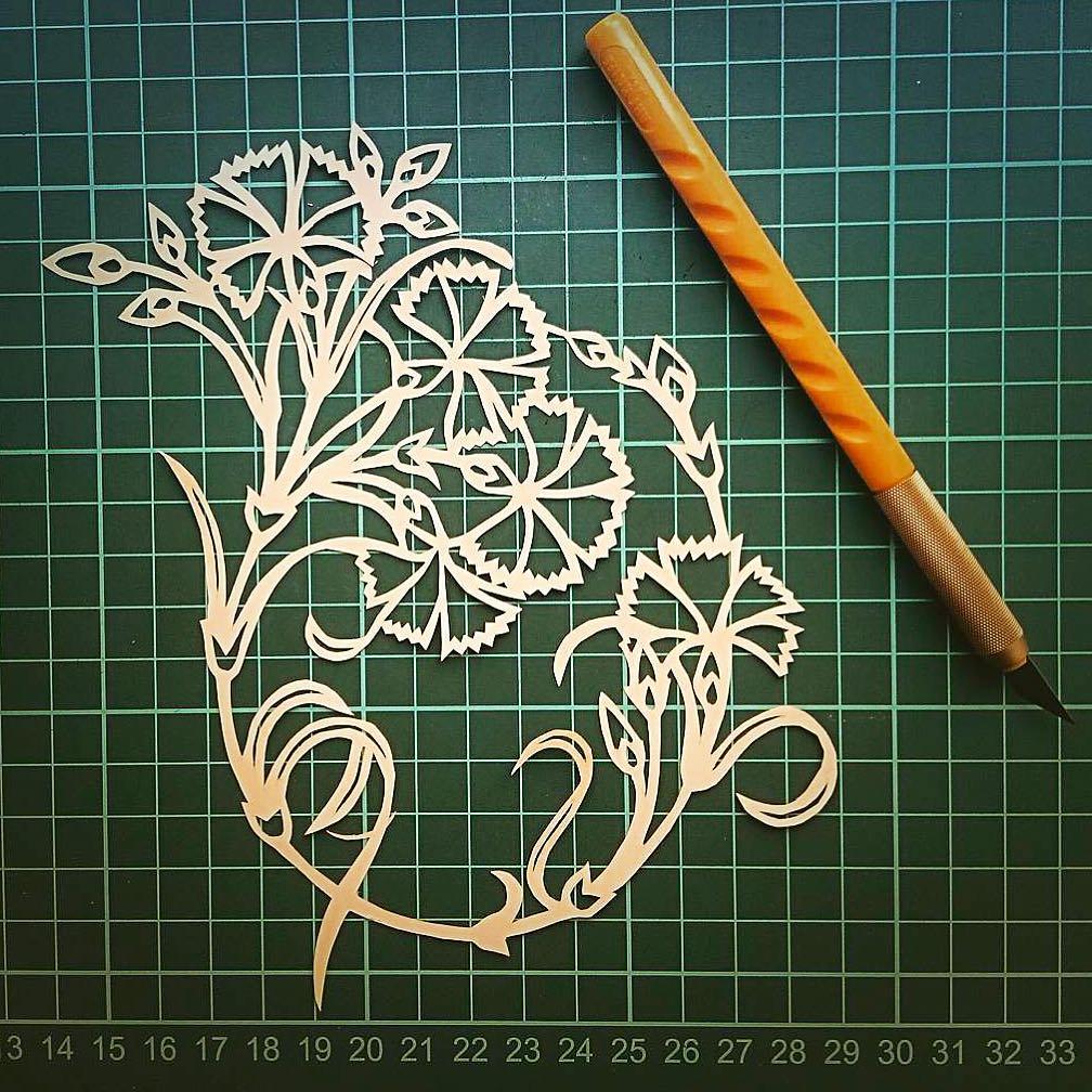 Donwload Photo Khat Art by @irfanisil  #kaatı #katı #papercuting #desen #designs #motif #çiçek #flow…