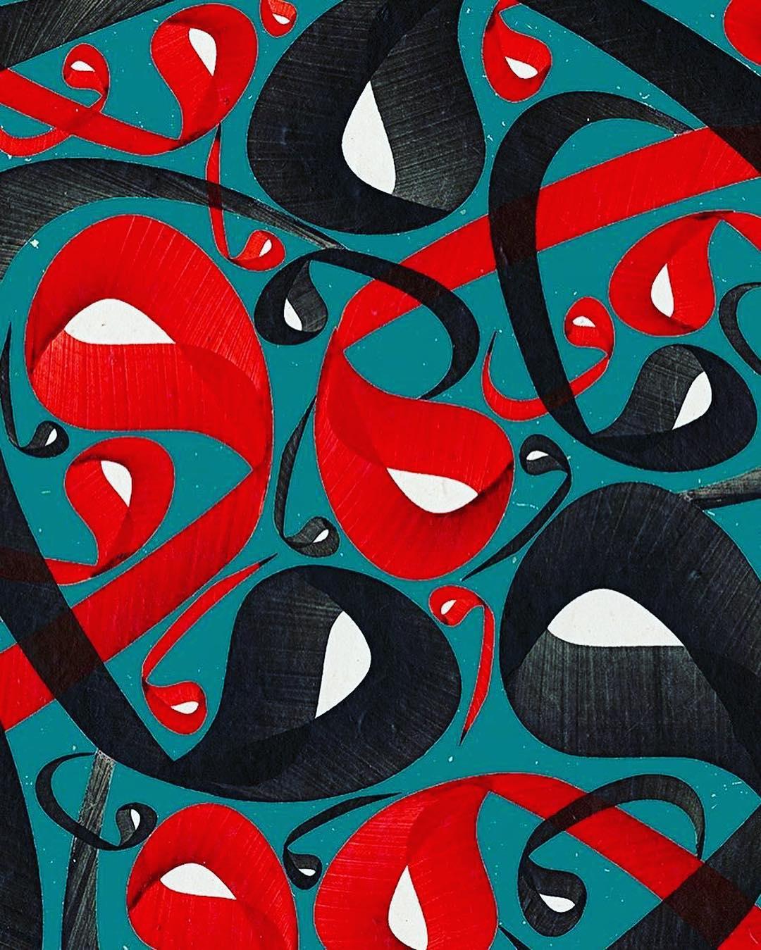 Donwload Photo Khat Art by @osmanozcay  Vav karalama #hat #hattat #art #hatsanatı #arabiccalligraphy…