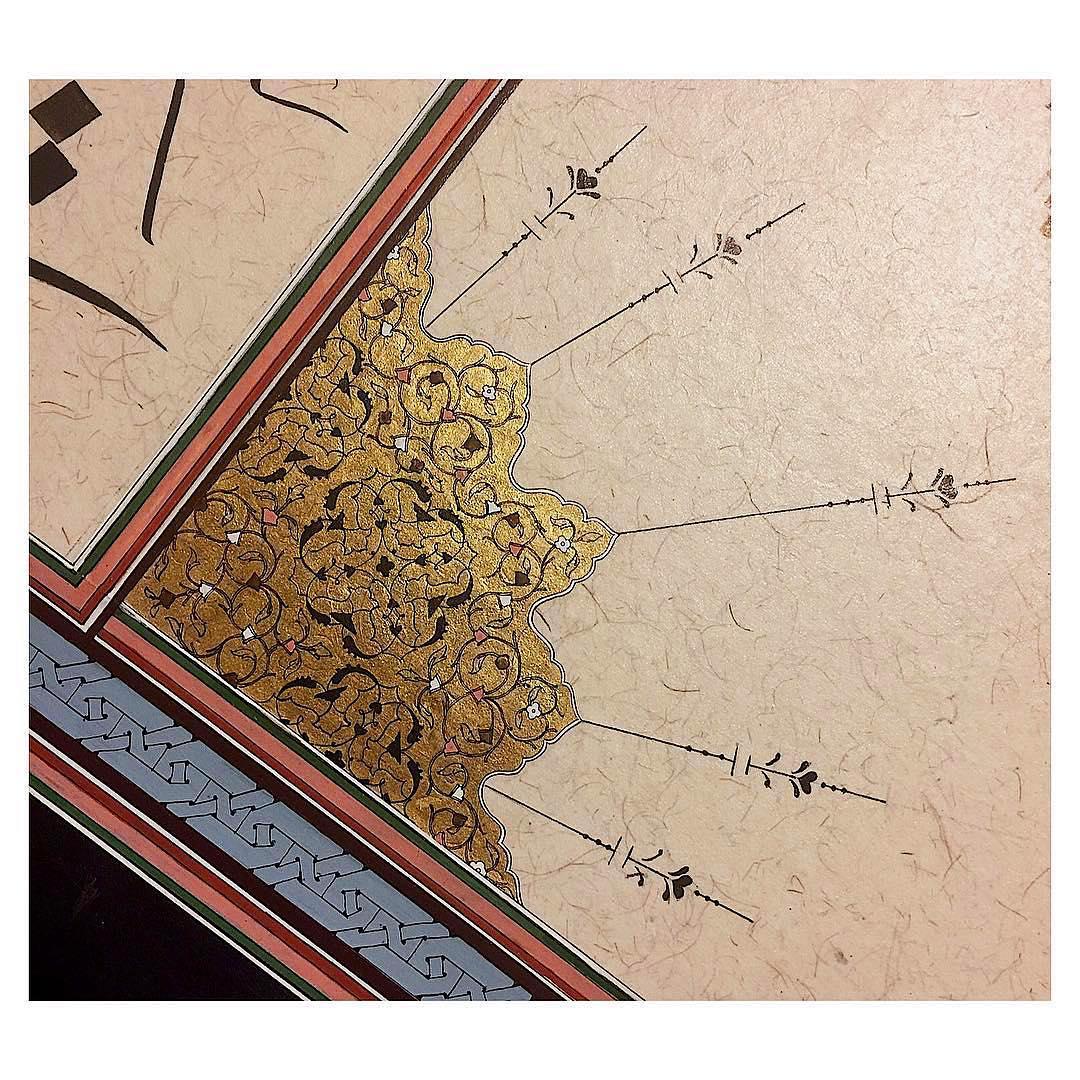 Donwload Photo Khat Art by @tezhipbusebilen  Detay #tezhip #gold #islamicart #art #illustration #dra…
