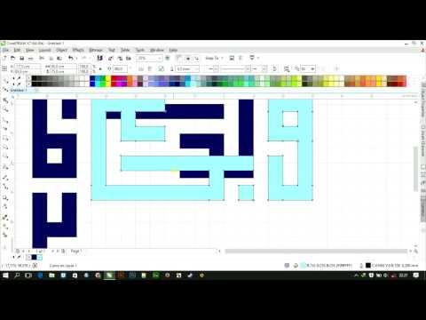 Download Video Membuat Kufi Man Jadda Wa Jada (Yin Yang Style) Di CorelDraw
