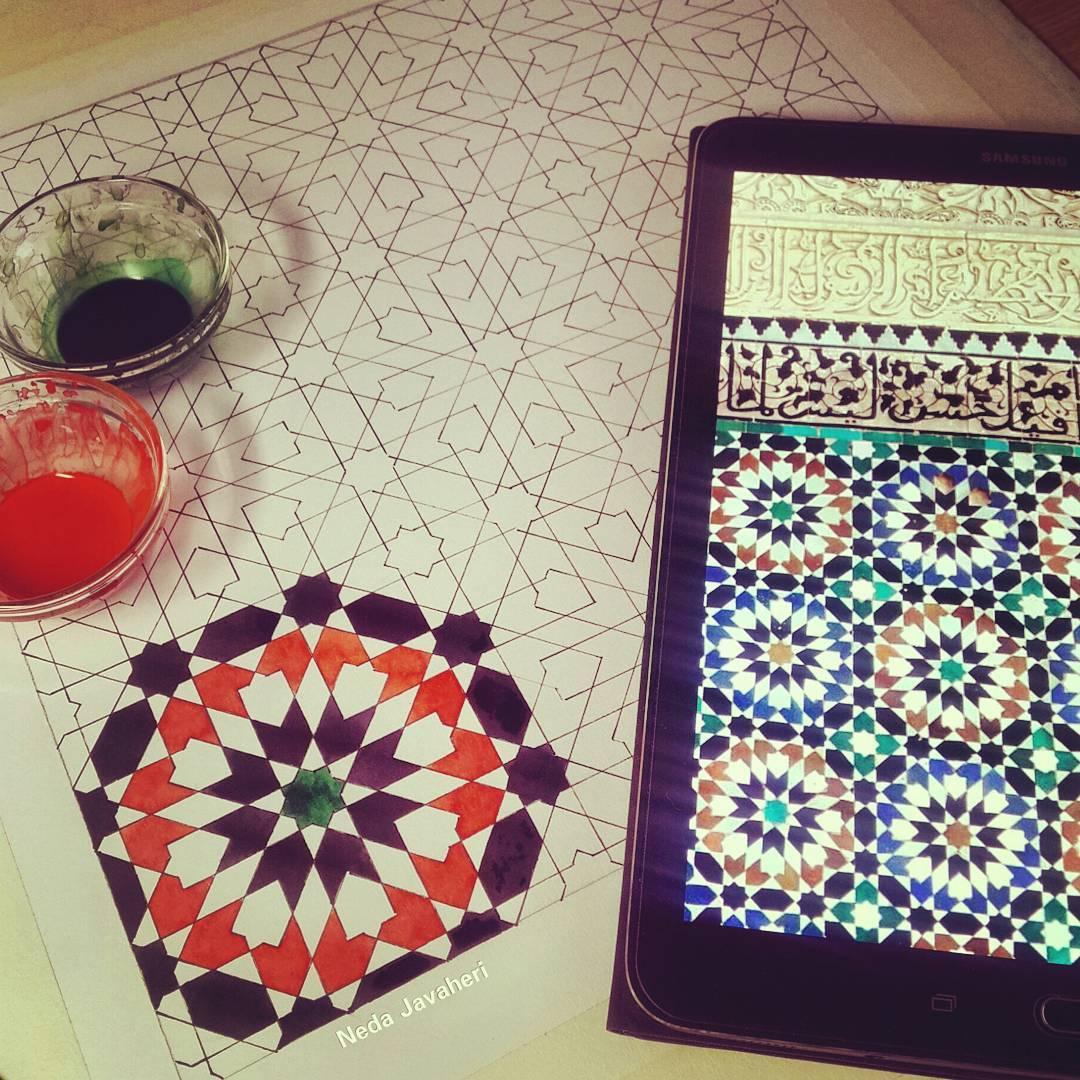 Karya Kaligrafi . اولین گره از مجموعه آشنایی با گره های هشت مراکشی. همیشه این گره برام بسیار جذا…- Ne Javaher