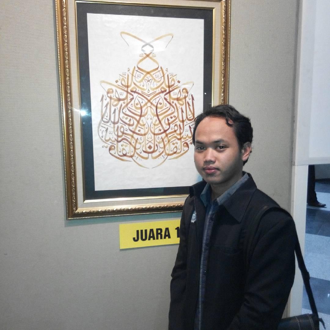 Karya Kaligrafi Jakarta indonesia…- Huda Purnawadi –  karya kaligrafi kompetisi Waraq Muqohhar