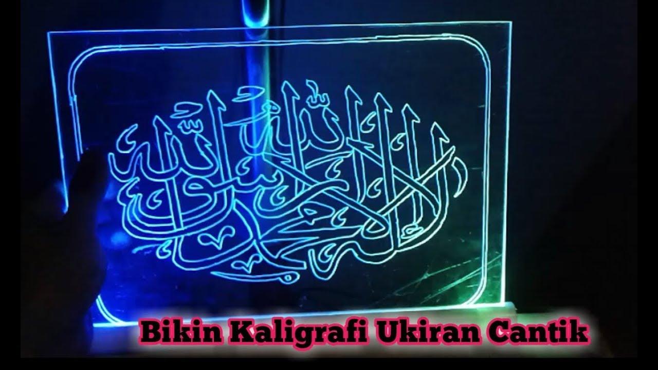 Download Video Bikin Ukiran Kaligrafi Cantik Bercahaya Gambar