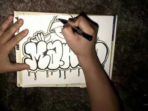 Download Video Drawing Marco Throw up and graffiti character- Mr Chino- (Sureno Bang- Instrumental) 5