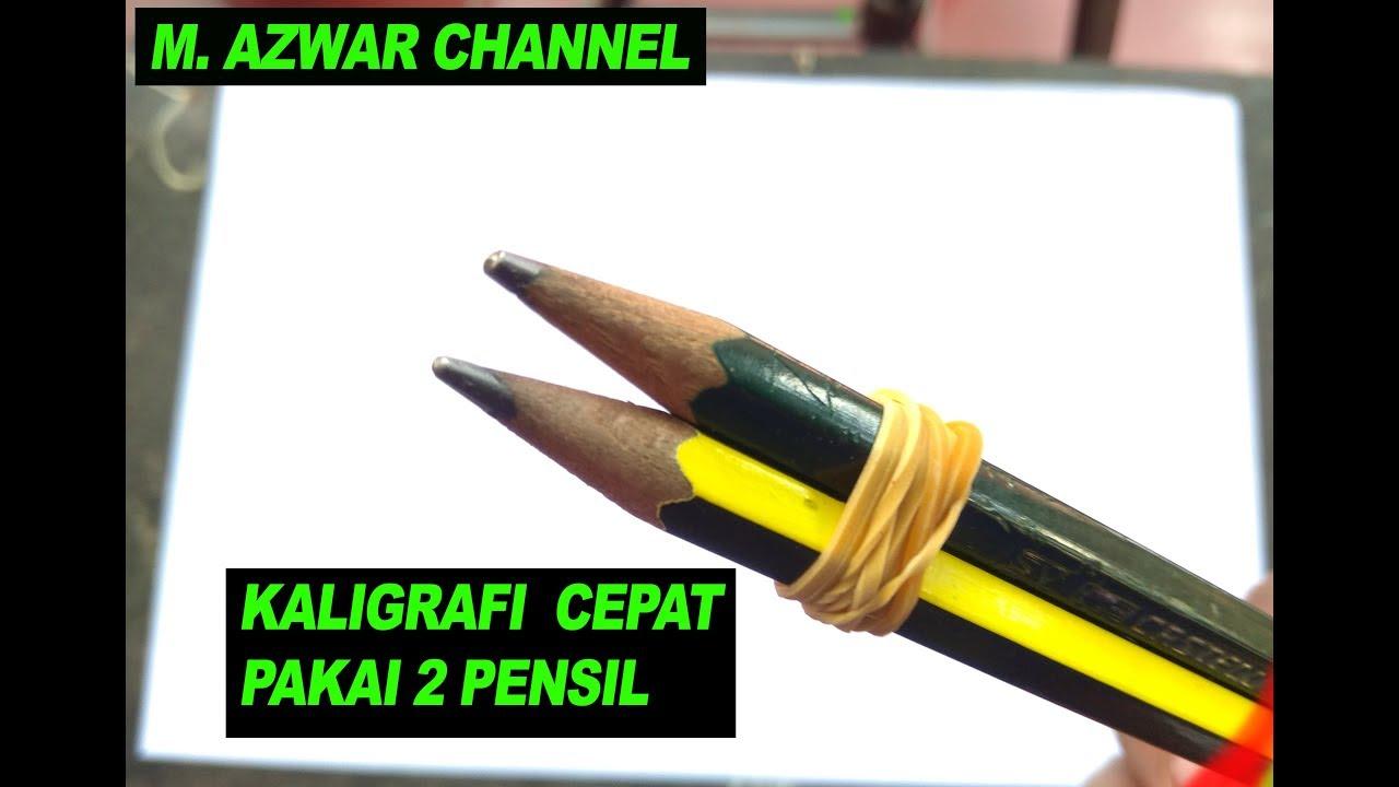 Download Video Keren Cara Membuat Kaligrafi 2 Pensil Gambar