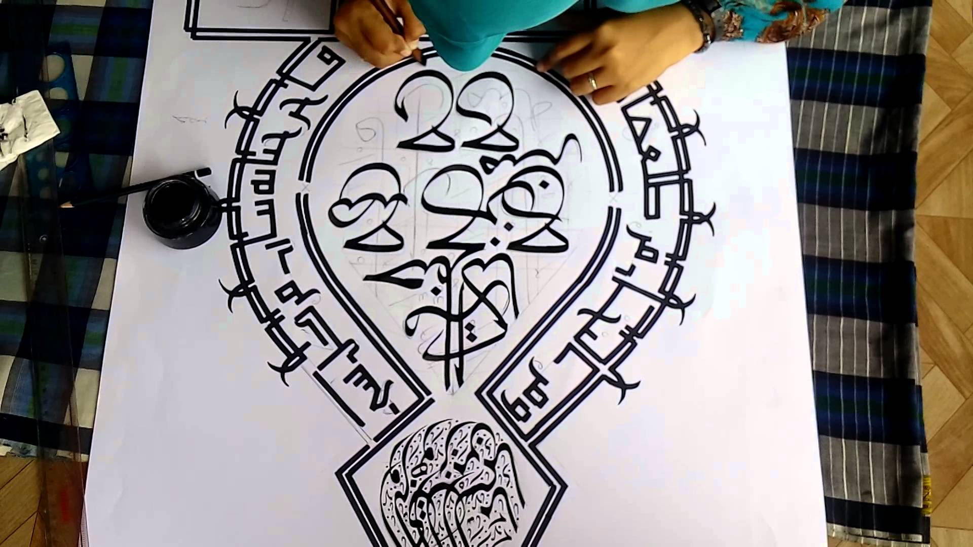 video lomba kaligrafi di kota medan