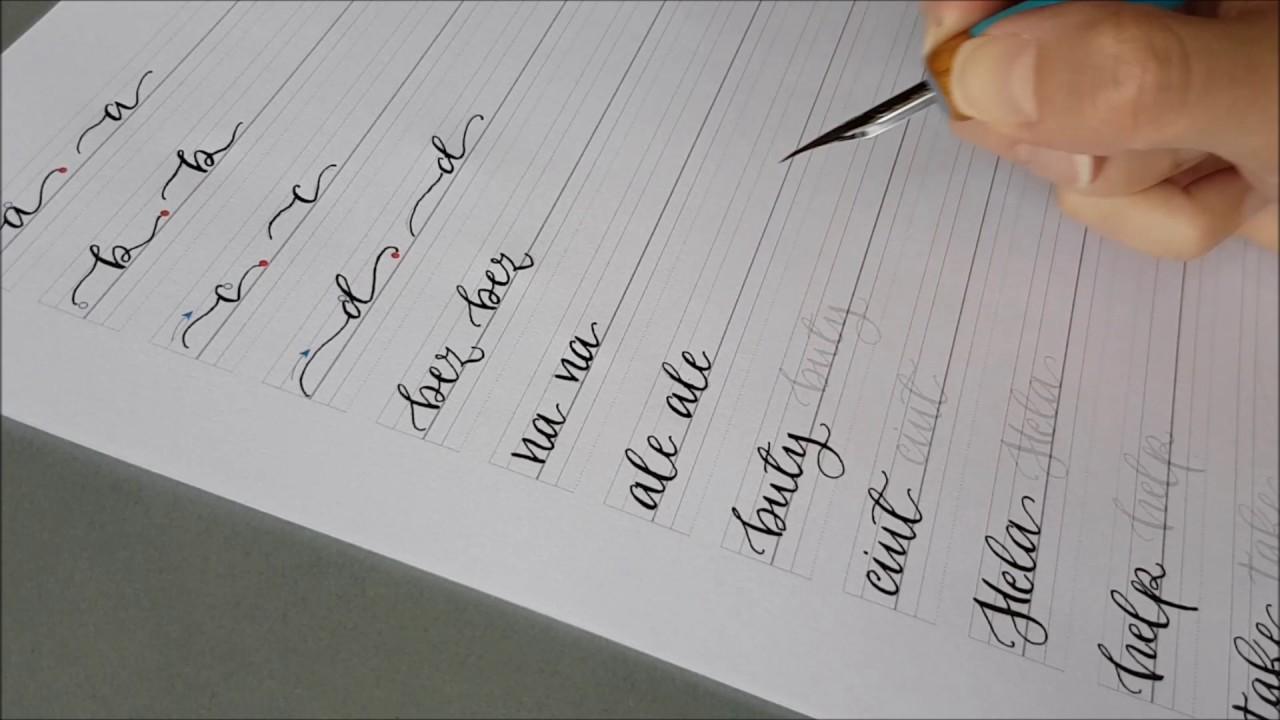Download Video Arkusze ćwiczeń - nowoczesna kaligrafia 1