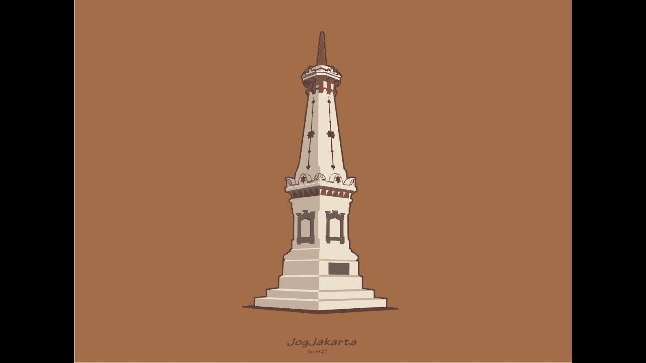 30 Ide Gambar Sketsa Monumen Tugu Jogja Tea And Lead
