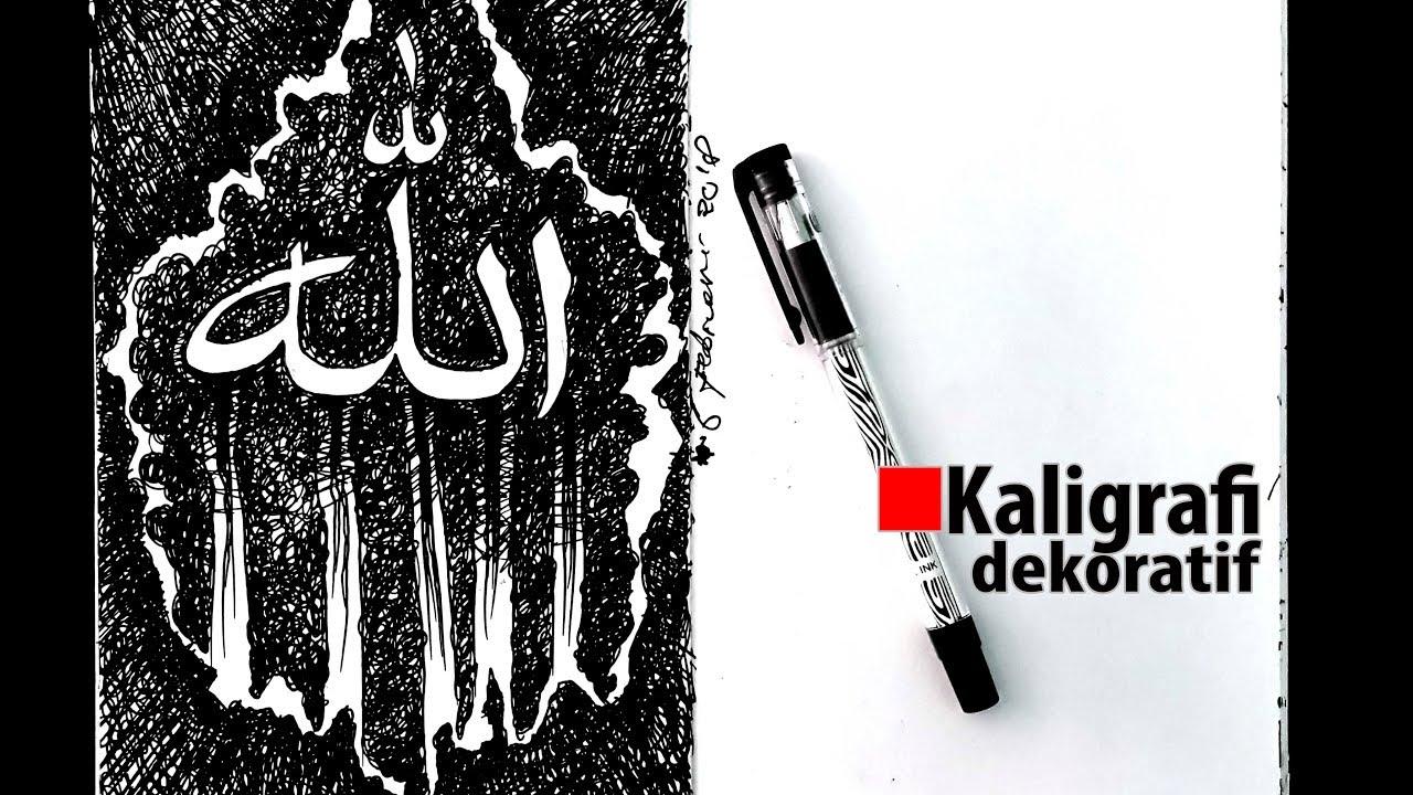 Download Video Kaligrafi dekoratif kontemporer menggunakan teknik arsir 3