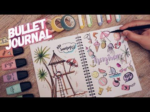 Download Video BULLET JOURNAL HAZİRAN I YAZ TEMALI KALİGRAFİ VE DOODLE ÇİZİMLER