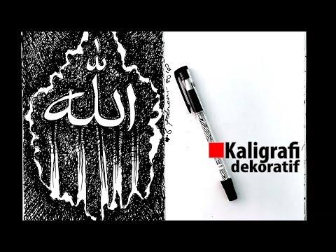 Download Video Kaligrafi dekoratif kontemporer menggunakan teknik arsir 2
