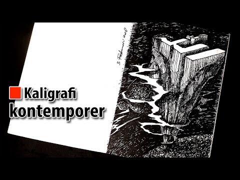 Download Video Kaligrafi kontemporer menggunakan balpoint - teknik arsir 1