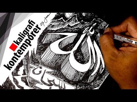 Download Video Kaligrafi kontemporer teknik arsir 3