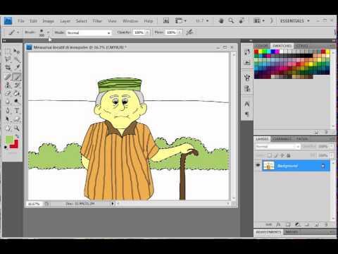 Download Video Mewarnai kreatif di komputer gambar kakek