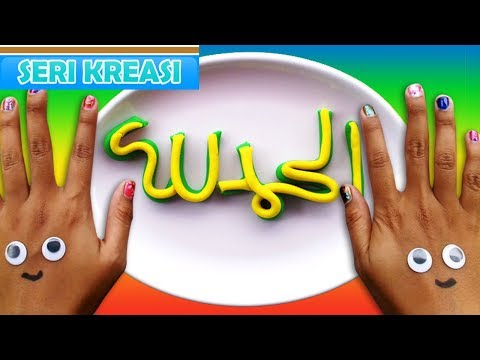 "Download Video Playdoh LUAR BIASA!! Tutorial Kaligrafi Arab PlayDoh ""Alhamdulillah"" Mainan Anak Jamal Laeli 1"