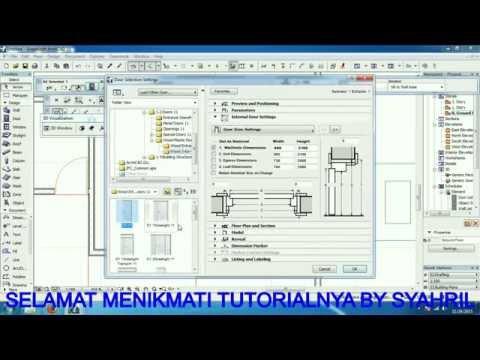 Download Video Tutorial Archicad_Desain layout rumah hook (cara menggambar archicad yang cepat dan mudah)