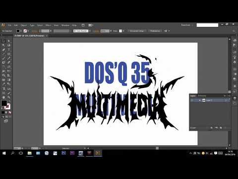 Download Video tutorial Cara Membuat Tulisan Grafiti dengan adobe ilustrator cs6 dan adobe photoshop cs6