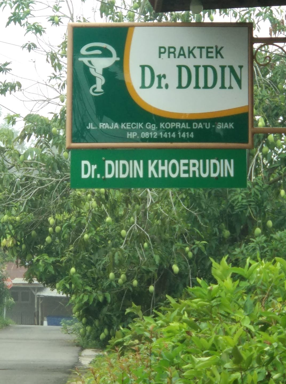 Plang utk 2 Dr. DIDIN yg berbeda:  Dr. DIDIN yg ahli ilmu pengobatan & Dr. D...