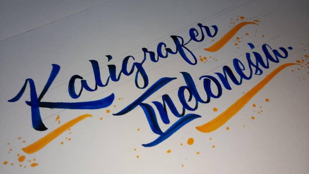 Foto Karya Kaligrafi #repost @ameliabc96 -kaligrafer indonesia-...- kaligrafer Indonesia posting ulang 11