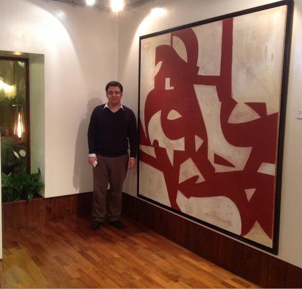 Karya Kaligrafi مع عملي سنة ٢٠١٢  with my artwork at solo show 2012  Almoases exhibition… Priv…- Sabah Arbilli