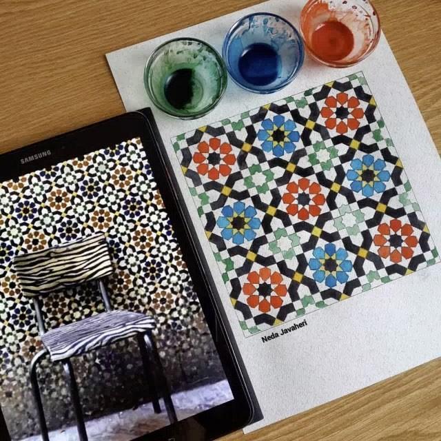 Karya Kaligrafi Happy Persian new year  نگاهی گذرا به تعدادی از کارهای هندسه نقوش اجرا شده در سا…- Ne Javaher