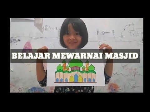 Download Video Belajar mewarnai gambar masjid | coloring mosque picture 4