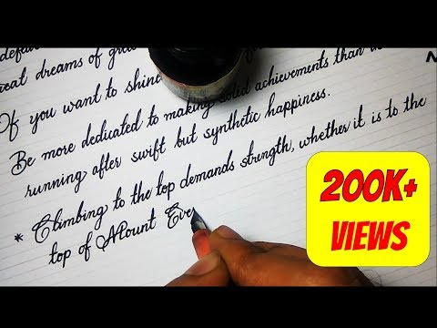 Download Video 10 Motivational quotes by APJ Abdul Kalam in fountain pen calligraphy Handwriting 2