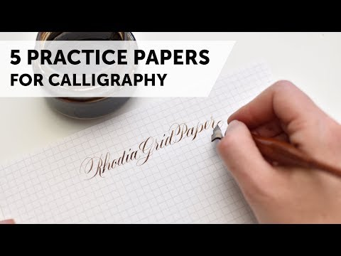 Download Video 5 Great Papers for Calligraphy Practice