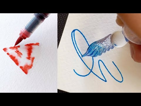 Download Video AMAZING DRAWING CALLIGRAPHY GRADIENT USING A BRUSH PEN