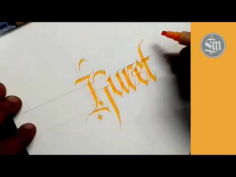 Download Video Add a panache to your calligraphic skills with Kuretake ZIG marker
