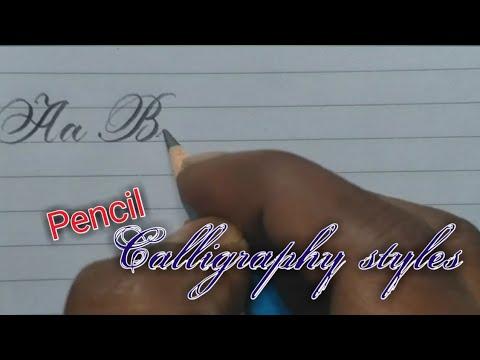 Download Video Beautiful pencil handwriting | English alphabet | pencil calligraphy