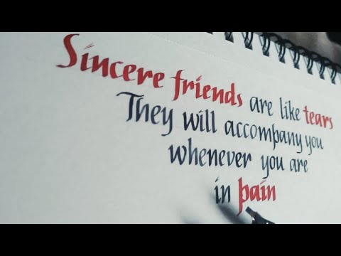 Download Video Calligraphy | Friendship quotes in Italic style | Satisfying calligraphy #calligraphy #friendship