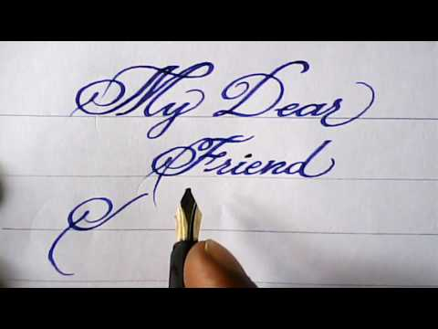 Download Video Fountain pen calligraphy | my friend's name | mazic writer