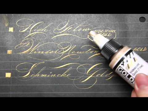 Download Video Guide to Gold: Gold Ink/Gouache/Pen Reviews for Calligraphers