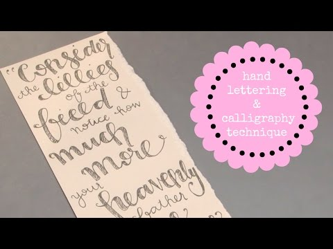 Download Video Hand Lettering Tutorial with Easy Calligraphy Technique 3