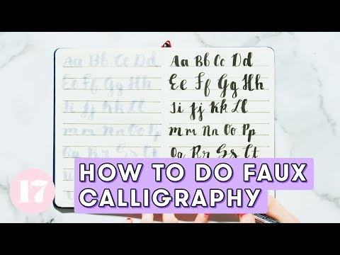 Download Video How to Do Faux Calligraphy | Plan With Me