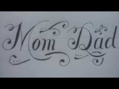 Download Video How to write mom and dad | Stylish lettering | Cursive | Modern Italic Calligraphy