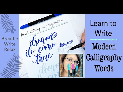 Download Video Learn to Write Modern Calligraphy Words 2