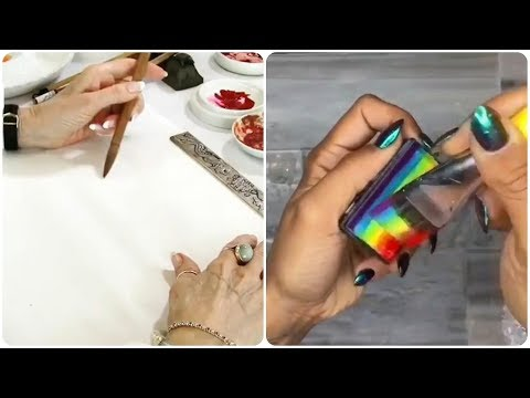 Download Video Most Amazing Art Drawing Video #77 🍒 Most Satisfying Lettering and Calligraphy Watercolour Painting