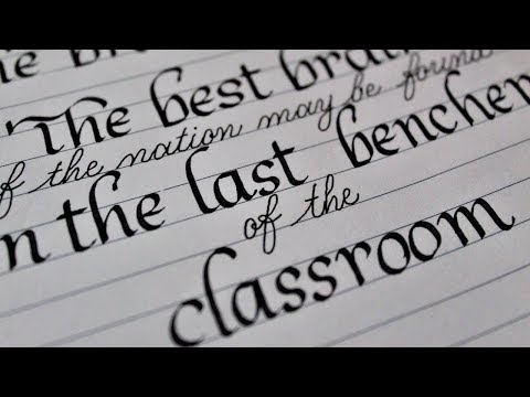 Download Video Motivational quotes by APJ Abdul Kalam in fountain pen calligraphy Handwriting