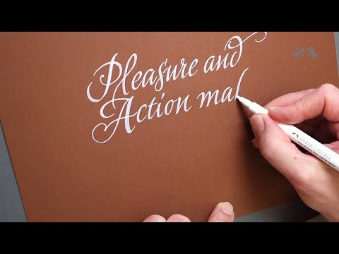 Download Video Pitt Artist Pen Calligraphy White