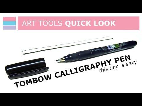 Download Video Tombow Calligraphy Pen [WS-BH 150 Fudenosuke Brush Pen] – ART TOOLS QUICK LOOK