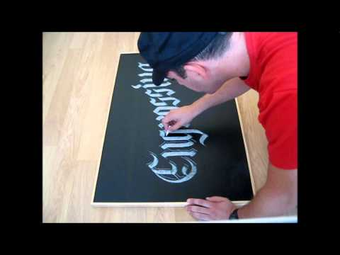 Download Video Chalkboard calligraphy