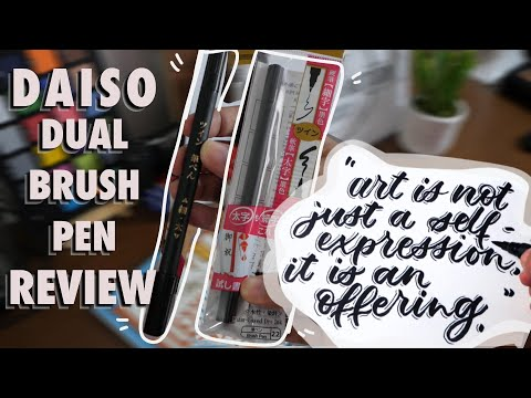 Download Video Daiso Brush Pen Twin Review and Modern Calligraphy Quote
