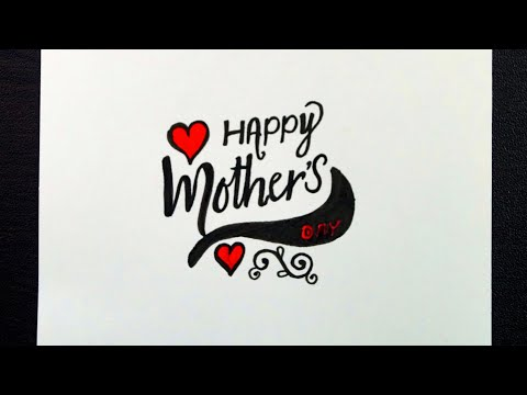 Download Video Happy Mothers Day Calligraphy Writing || How To Write Happy Mothers Day in Fancy Letters
