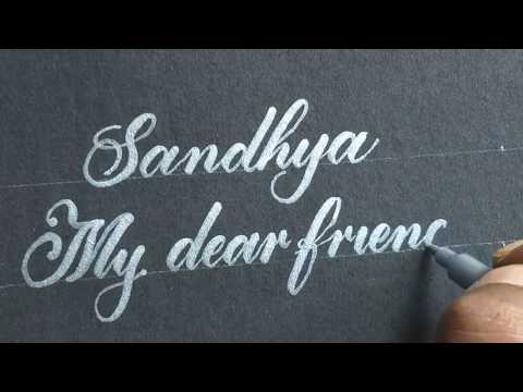 Download Video How to do calligraphy with metallic silver pen | like print