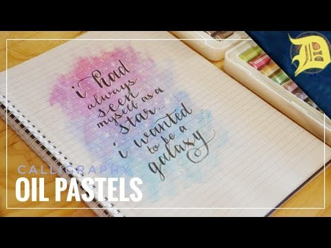 Download Video OIL PASTEL Calligraphy Background! | Calligraphy + Oil Pastels | 1