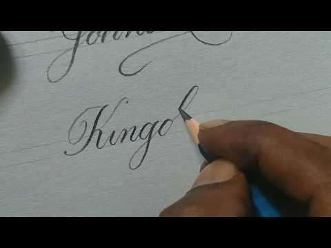 Download Video Super satisfying pencil calligraphy | calligraphy words writing